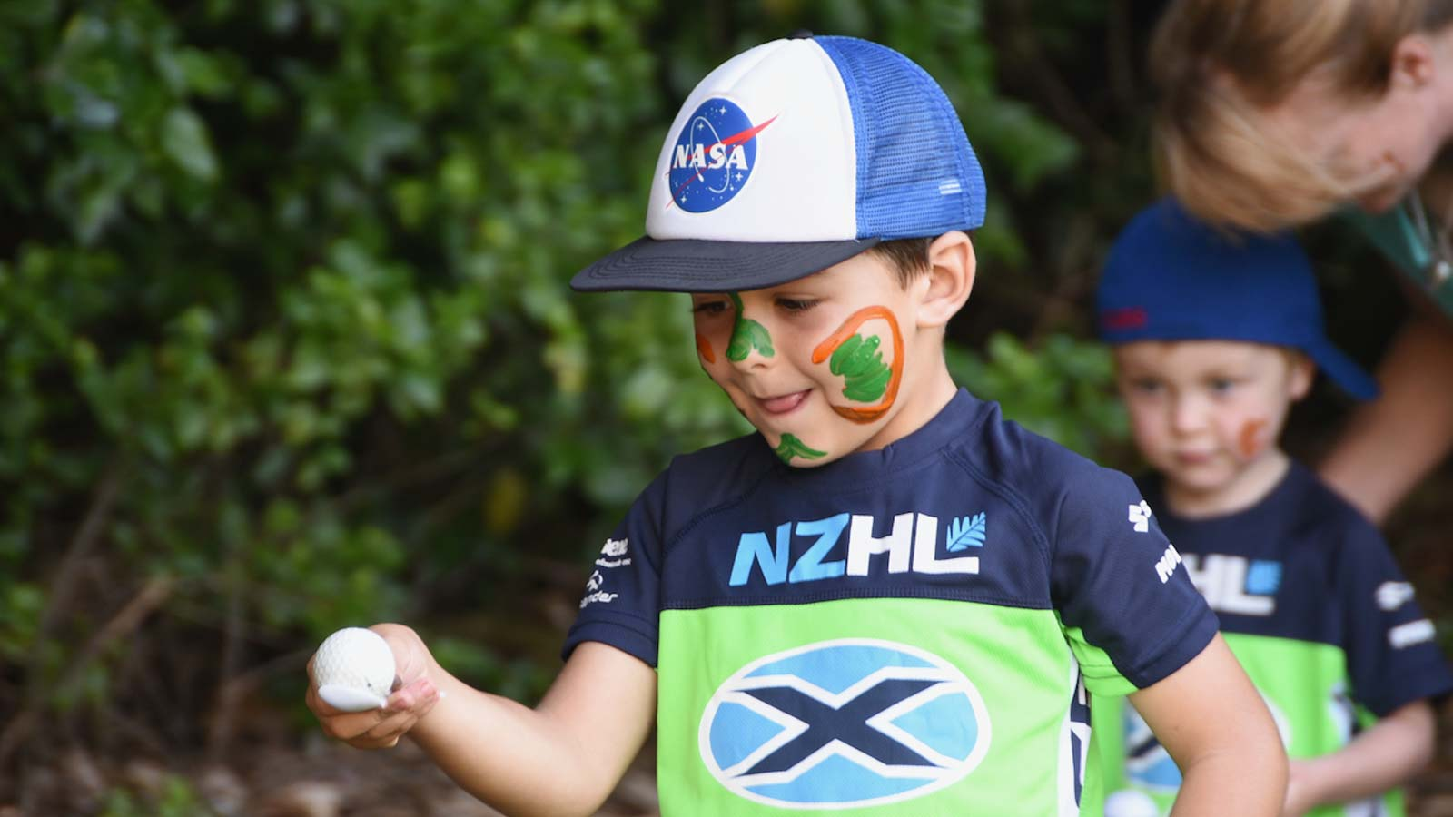 Child balancing egg in NZHL X Race